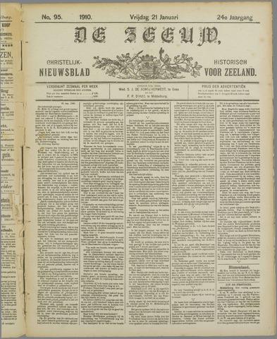 De Zeeuw. Christelijk-historisch nieuwsblad voor Zeeland 1910-01-21