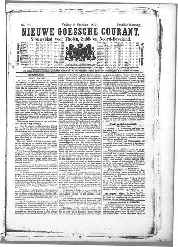 Nieuwe Goessche Courant 1877-11-09