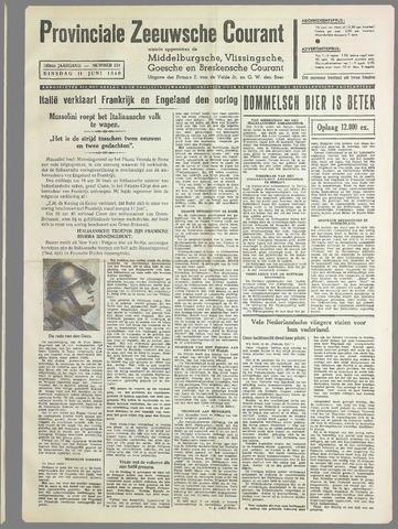 Provinciale Zeeuwse Courant 1940-06-11