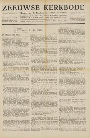 Zeeuwsche kerkbode, weekblad gewijd aan de belangen der gereformeerde kerken/ Zeeuwsch kerkblad 1948-12-31