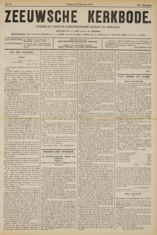 Zeeuwsche kerkbode, weekblad gewijd aan de belangen der gereformeerde kerken/ Zeeuwsch kerkblad 1940-02-23