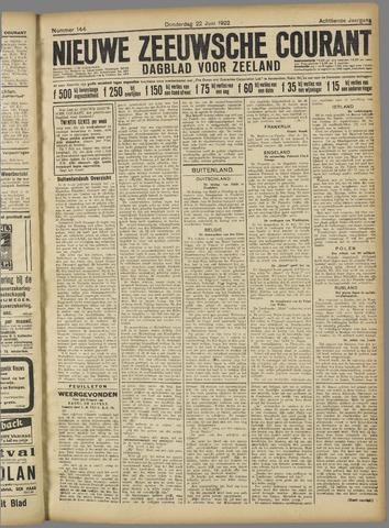 Nieuwe Zeeuwsche Courant 1922-06-22
