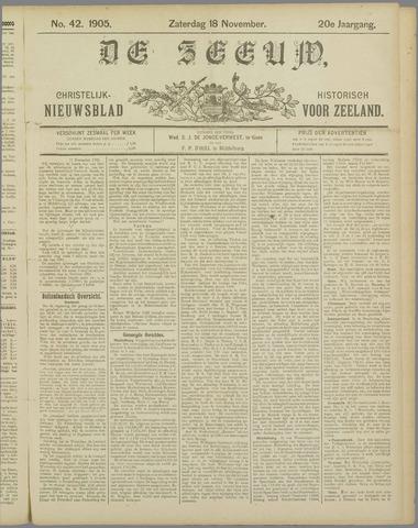 De Zeeuw. Christelijk-historisch nieuwsblad voor Zeeland 1905-11-18