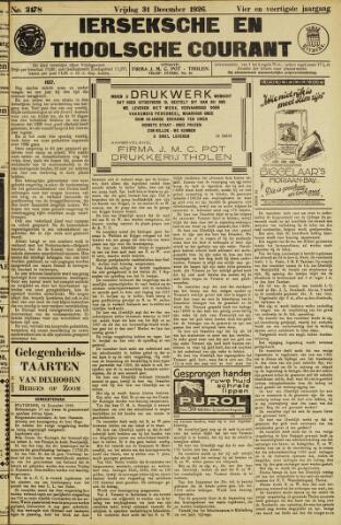 Ierseksche en Thoolsche Courant 1926-12-31