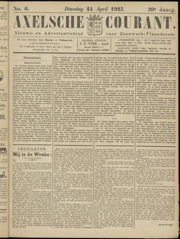 Axelsche Courant 1923-04-24