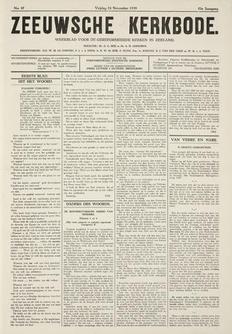 Zeeuwsche kerkbode, weekblad gewijd aan de belangen der gereformeerde kerken/ Zeeuwsch kerkblad 1939-11-24