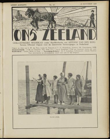Ons Zeeland / Zeeuwsche editie 1929-11-30