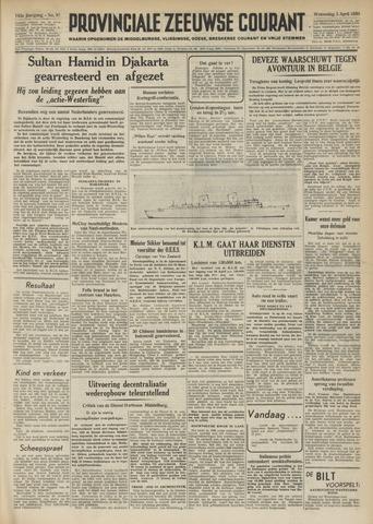 Provinciale Zeeuwse Courant 1950-04-05