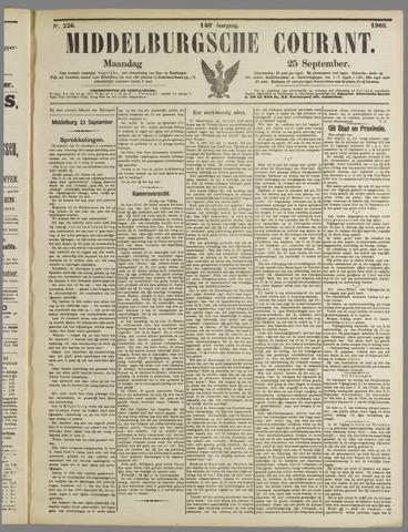 Middelburgsche Courant 1905-09-25