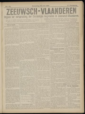 Luctor et Emergo. Antirevolutionair nieuws- en advertentieblad voor Zeeland / Zeeuwsch-Vlaanderen. Orgaan ter verspreiding van de christelijke beginselen in Zeeuwsch-Vlaanderen 1919-07-26