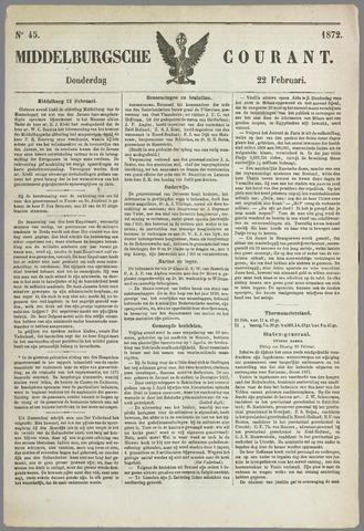 Middelburgsche Courant 1872-02-22