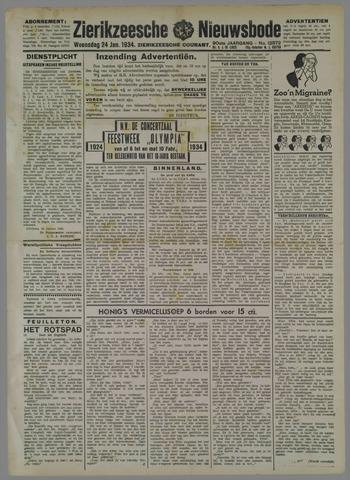 Zierikzeesche Nieuwsbode 1934-01-24