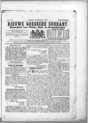 Nieuwe Goessche Courant 1870-09-20