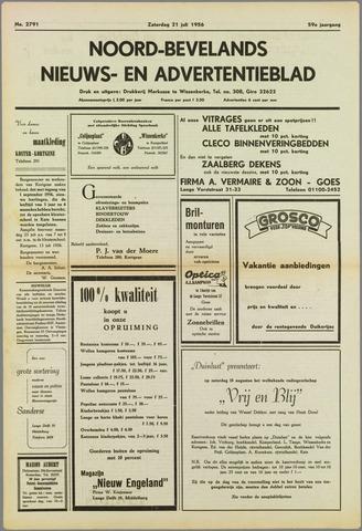 Noord-Bevelands Nieuws- en advertentieblad 1956-07-21
