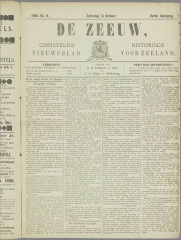 De Zeeuw. Christelijk-historisch nieuwsblad voor Zeeland 1888-10-13