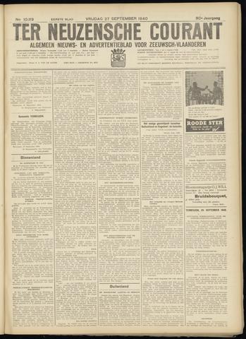 Ter Neuzensche Courant. Algemeen Nieuws- en Advertentieblad voor Zeeuwsch-Vlaanderen / Neuzensche Courant ... (idem) / (Algemeen) nieuws en advertentieblad voor Zeeuwsch-Vlaanderen 1940-09-27