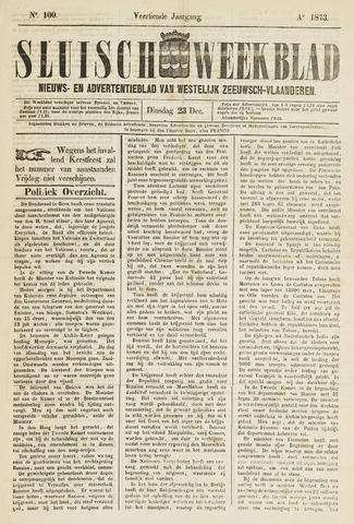 Sluisch Weekblad. Nieuws- en advertentieblad voor Westelijk Zeeuwsch-Vlaanderen 1873-12-23