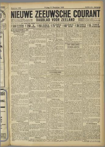 Nieuwe Zeeuwsche Courant 1922-12-15