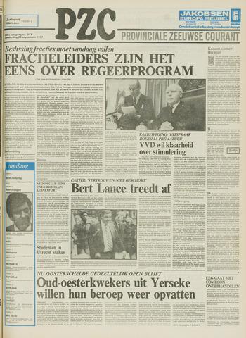 Provinciale Zeeuwse Courant 1977-09-22