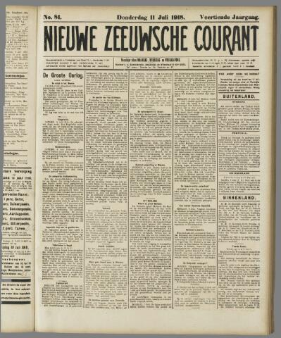 Nieuwe Zeeuwsche Courant 1918-07-11