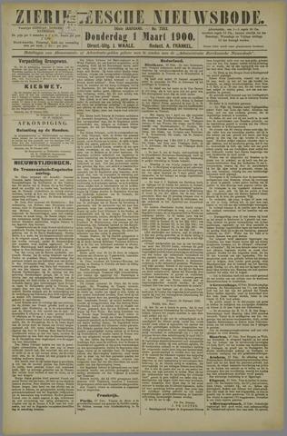 Zierikzeesche Nieuwsbode 1900-03-01