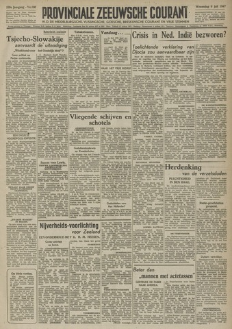 Provinciale Zeeuwse Courant 1947-07-09