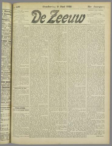 De Zeeuw. Christelijk-historisch nieuwsblad voor Zeeland 1921-06-09