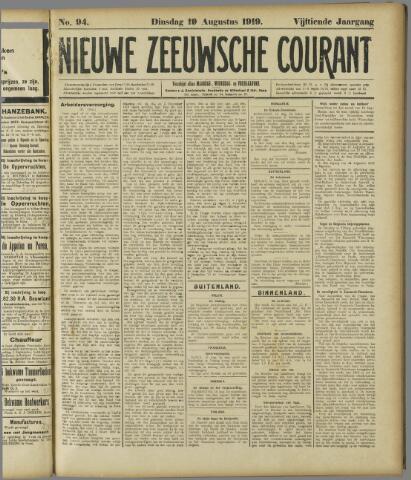 Nieuwe Zeeuwsche Courant 1919-08-19