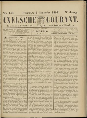 Axelsche Courant 1887-11-02