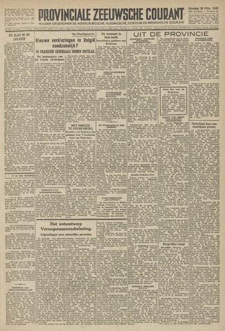 Provinciale Zeeuwse Courant 1946-02-26