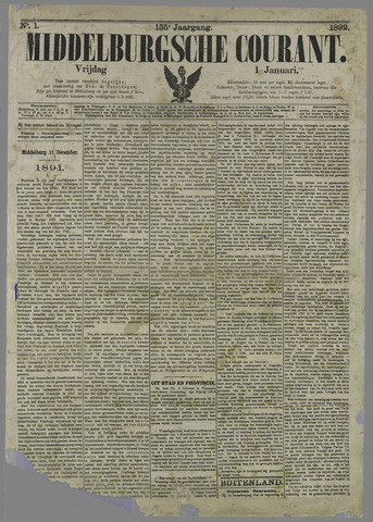 Middelburgsche Courant 1892
