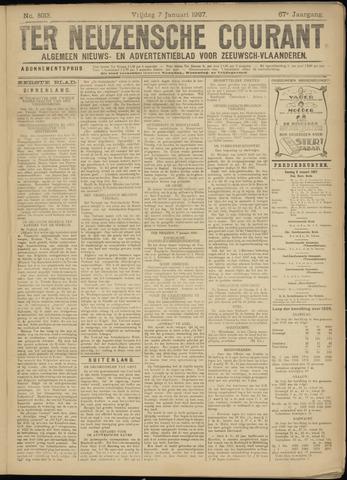 Ter Neuzensche Courant. Algemeen Nieuws- en Advertentieblad voor Zeeuwsch-Vlaanderen / Neuzensche Courant ... (idem) / (Algemeen) nieuws en advertentieblad voor Zeeuwsch-Vlaanderen 1927-01-07