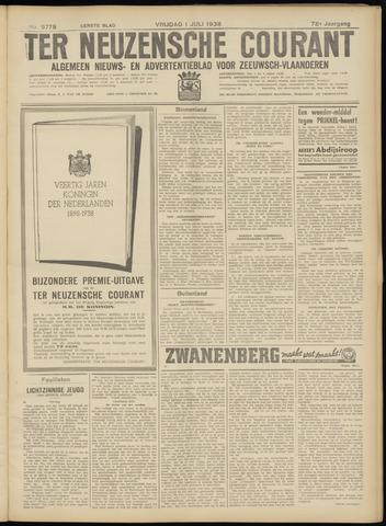 Ter Neuzensche Courant. Algemeen Nieuws- en Advertentieblad voor Zeeuwsch-Vlaanderen / Neuzensche Courant ... (idem) / (Algemeen) nieuws en advertentieblad voor Zeeuwsch-Vlaanderen 1938-07-01