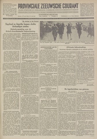 Provinciale Zeeuwse Courant 1941-06-26