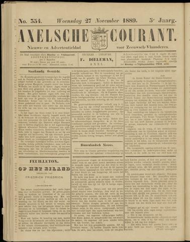 Axelsche Courant 1889-11-27