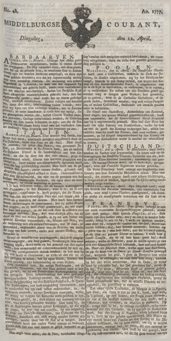 Middelburgsche Courant 1777-04-22