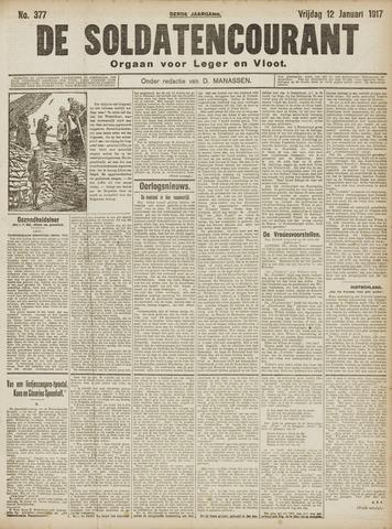 De Soldatencourant. Orgaan voor Leger en Vloot 1917-01-12