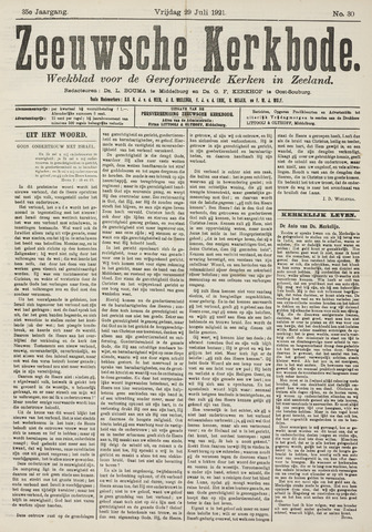 Zeeuwsche kerkbode, weekblad gewijd aan de belangen der gereformeerde kerken/ Zeeuwsch kerkblad 1921-07-29