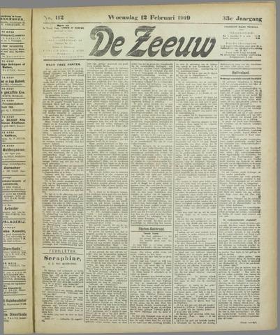 De Zeeuw. Christelijk-historisch nieuwsblad voor Zeeland 1919-02-12