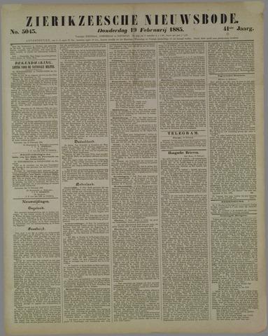 Zierikzeesche Nieuwsbode 1885-02-19