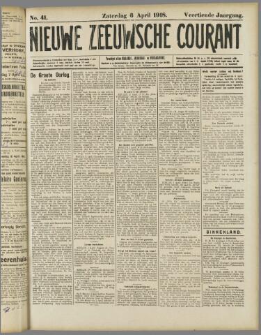 Nieuwe Zeeuwsche Courant 1918-04-06