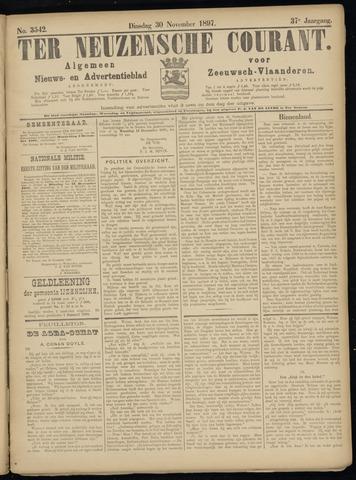 Ter Neuzensche Courant. Algemeen Nieuws- en Advertentieblad voor Zeeuwsch-Vlaanderen / Neuzensche Courant ... (idem) / (Algemeen) nieuws en advertentieblad voor Zeeuwsch-Vlaanderen 1897-11-30