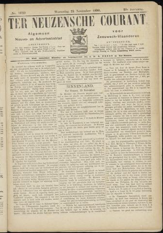 Ter Neuzensche Courant. Algemeen Nieuws- en Advertentieblad voor Zeeuwsch-Vlaanderen / Neuzensche Courant ... (idem) / (Algemeen) nieuws en advertentieblad voor Zeeuwsch-Vlaanderen 1880-11-24