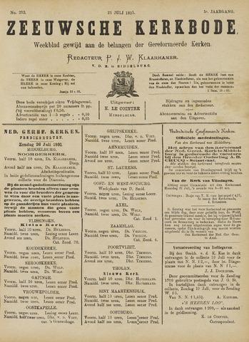 Zeeuwsche kerkbode, weekblad gewijd aan de belangen der gereformeerde kerken/ Zeeuwsch kerkblad 1891-07-25