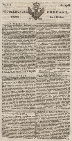 Middelburgsche Courant 1768-10-01