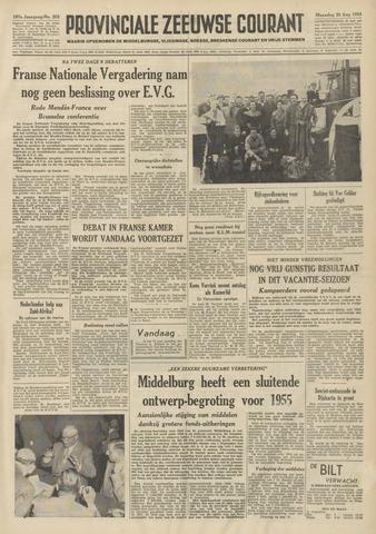 Provinciale Zeeuwse Courant 1954-08-30