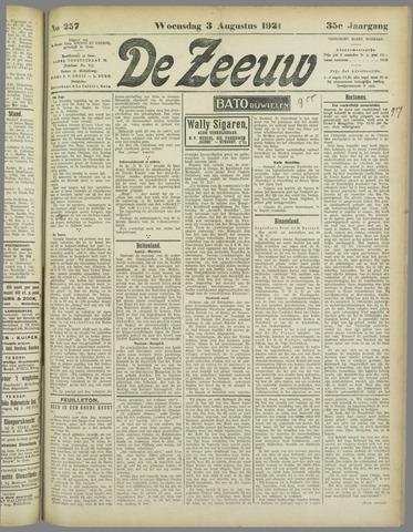 De Zeeuw. Christelijk-historisch nieuwsblad voor Zeeland 1921-08-03
