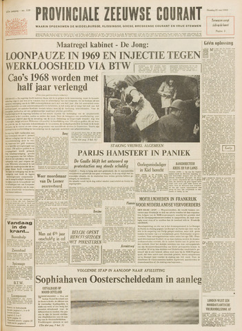 Provinciale Zeeuwse Courant 1968-05-21