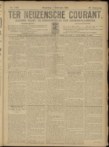 Ter Neuzensche Courant. Algemeen Nieuws- en Advertentieblad voor Zeeuwsch-Vlaanderen / Neuzensche Courant ... (idem) / (Algemeen) nieuws en advertentieblad voor Zeeuwsch-Vlaanderen 1921-02-07