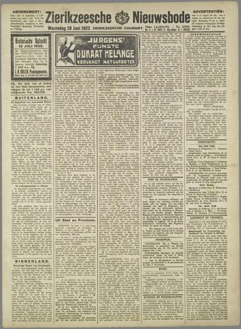 Zierikzeesche Nieuwsbode 1922-06-28